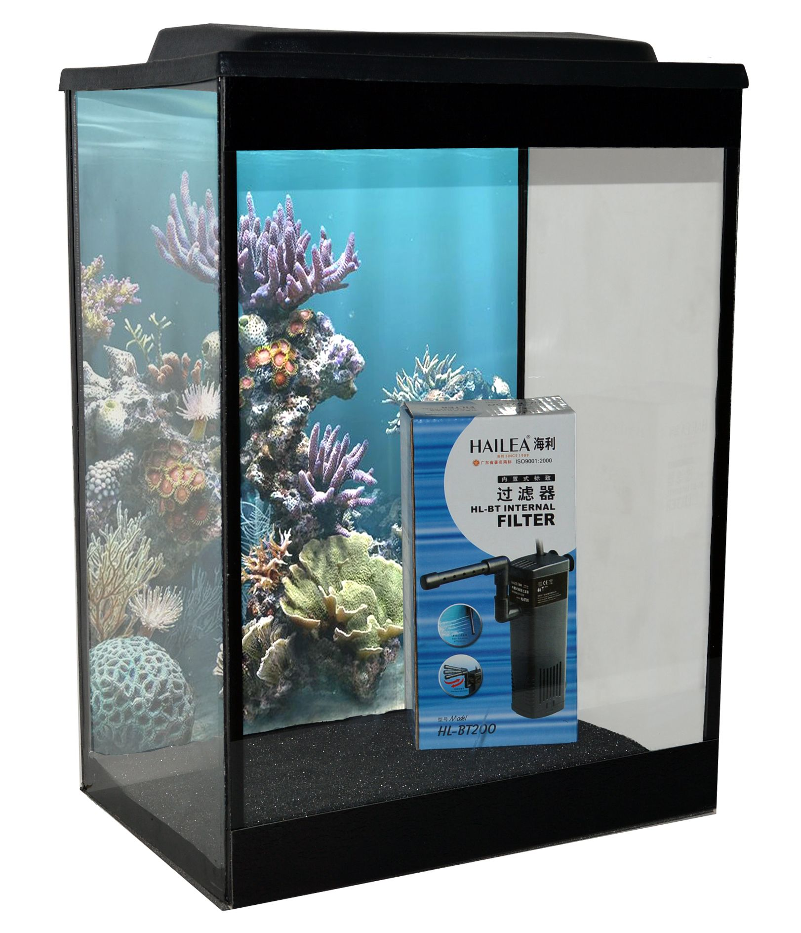 Aquarium fish tank starter kit - Ap25t Aquaplus 25ltr Tall Aquarium Starter Kit