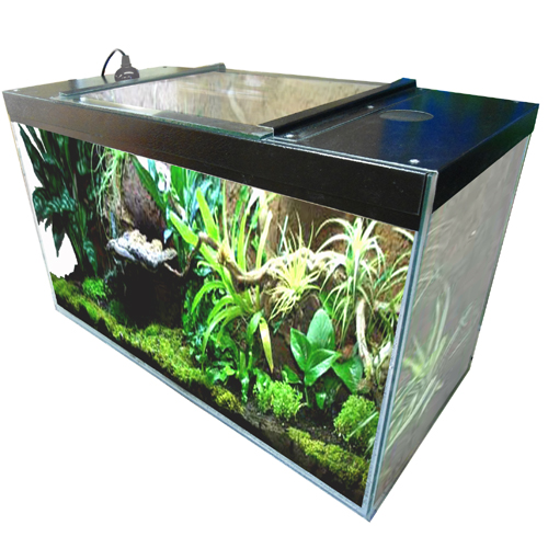Vivarium lid fits 48 x 12 aquarium for 12 x 48 window